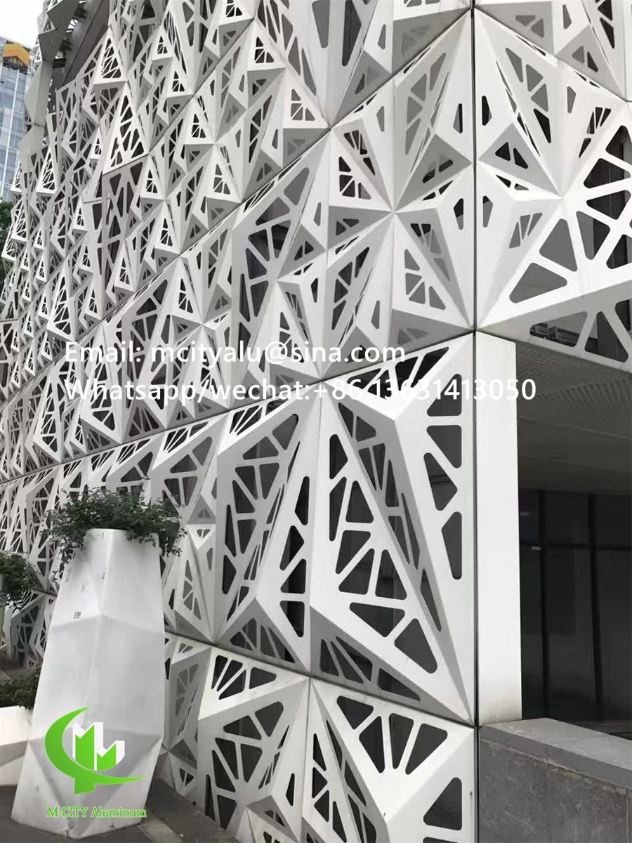 Metal Perforated Aluminum Laser Cutting Panel Facade Solid Panel Cladding with Patterns from ...