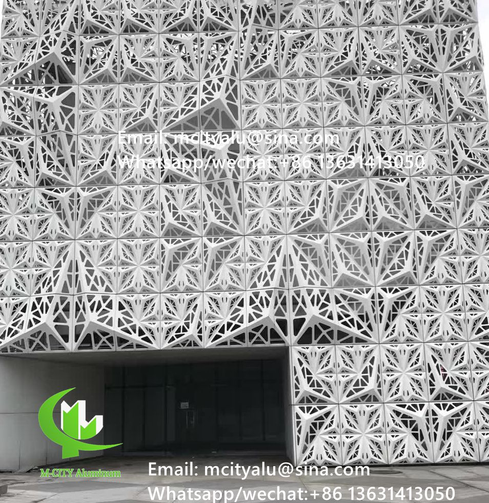 Metal Perforated Aluminum Laser Cutting Panel Facade Solid