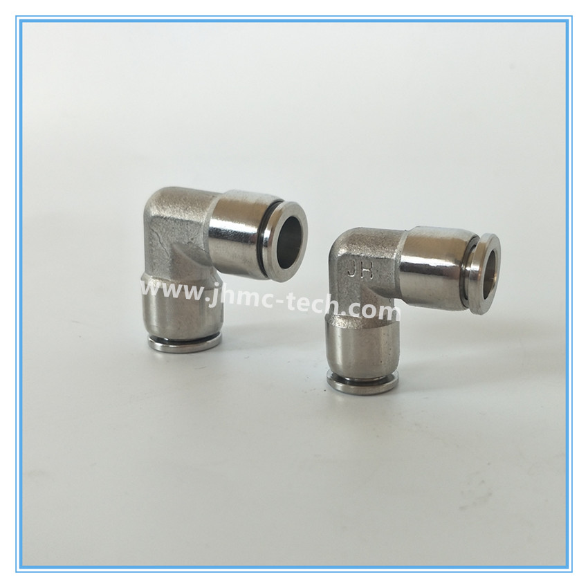 Stainless steel union elbow pneumatic fittings purchasing