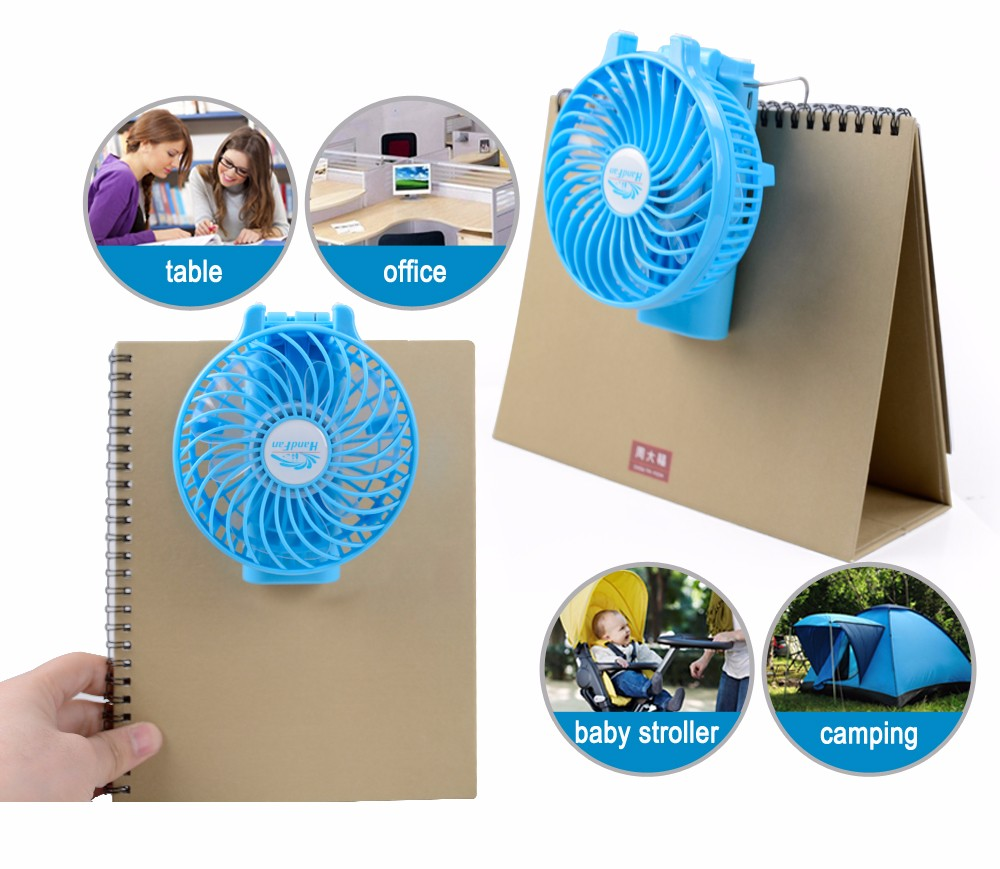 HF310 mini portable handy power bank USB fan for home and travel