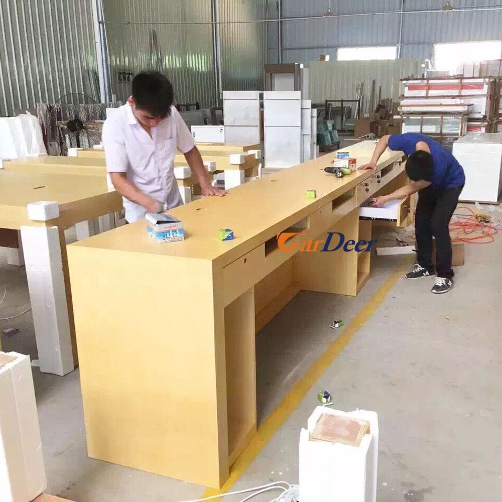 Apple Store Help Desk Shenzhen Customized Ash Tree Wood Grain Wood Cashier  Desk . Apple Store Help Desk ...