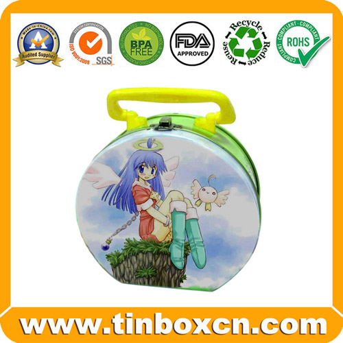 Metal Tin Lunch Box Lunch Tin Box with Handle for Gift Packaging