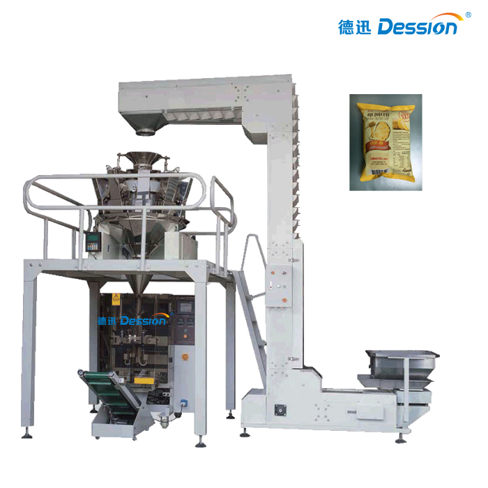 Automatic Nitrogen Flushing Snaks Potato Chips Packaging Machine