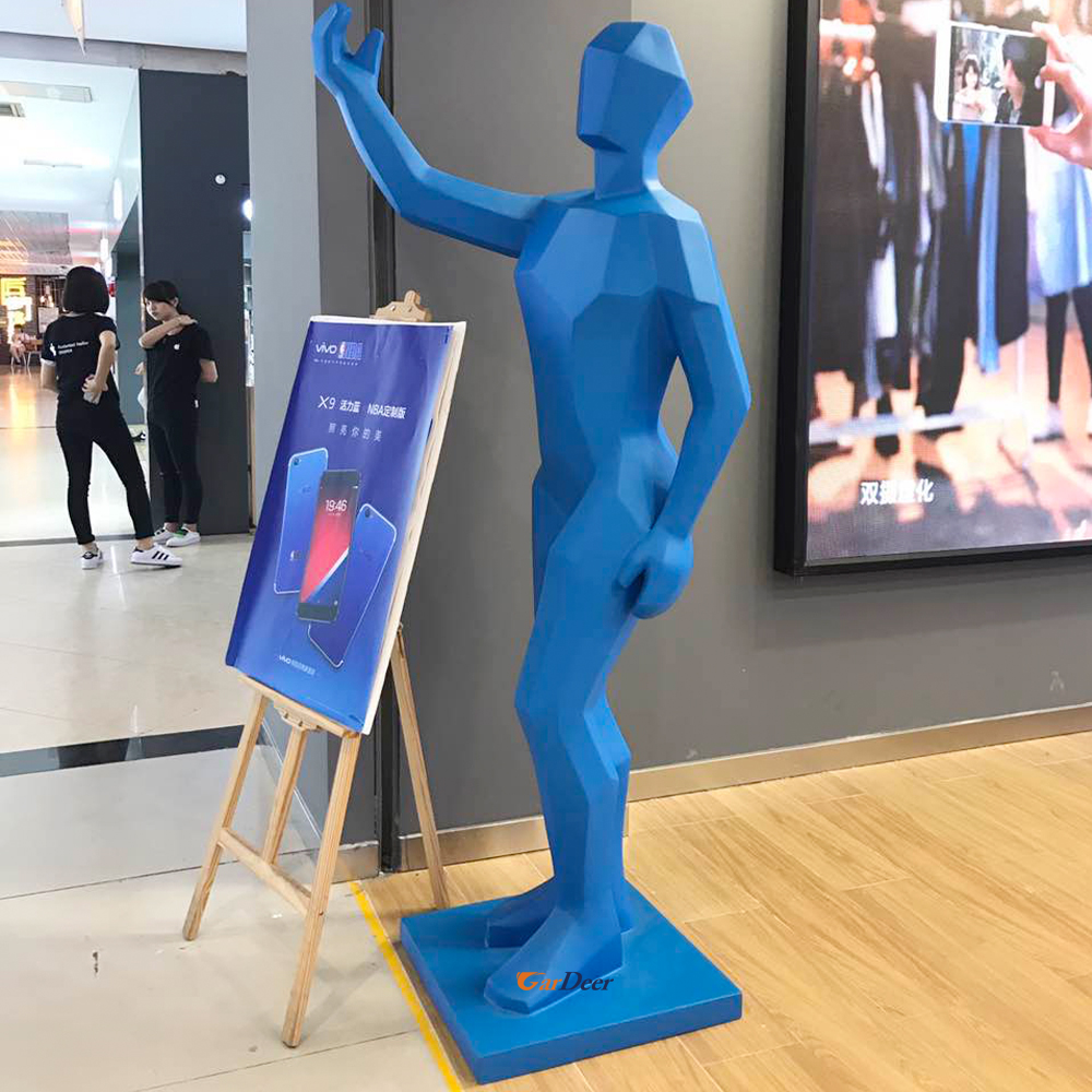 Hot deluxe solid blue parget human model for vivo store display