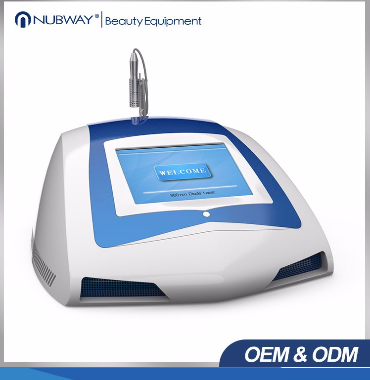 Nubway most popular CE FDA approved blood vessel removal diode vascular laser 980 nm beauty machine