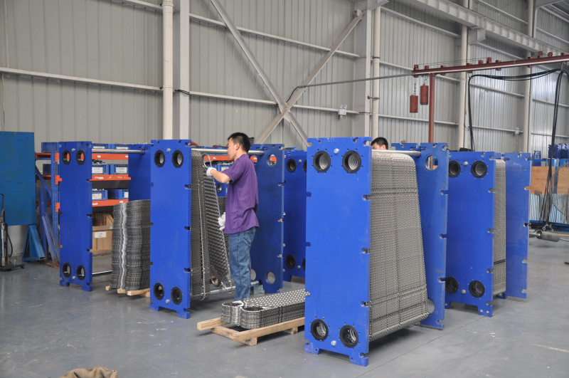 Solid Particle / Fiber / Fiber & Sticky Material Medium Wide Gap Plate Heat Exchanger