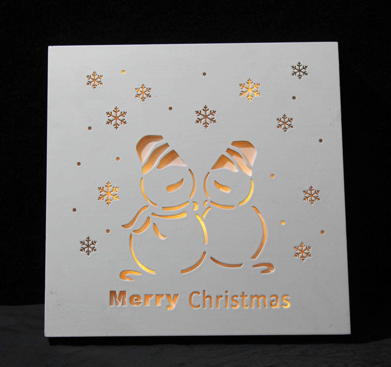 Home decoration products Christmas wooden lighting box gifts