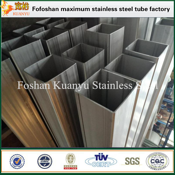 Factory Price Large Diameter Stainless Steel Square Industrial Pipe 304 304L