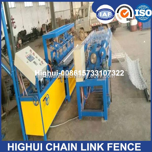 25-120mm Hole Double Wire Feeding Fully Automatic Chain Link Fence Machine