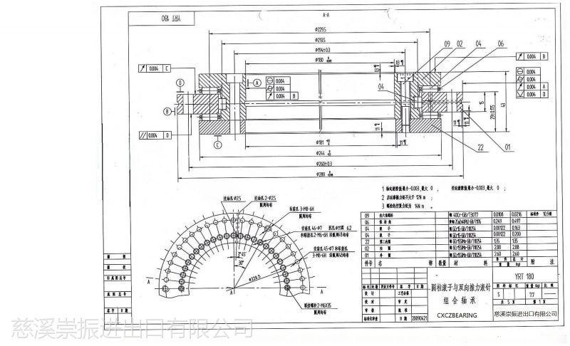 ina type yrt180 p4 p2 slewing bearing
