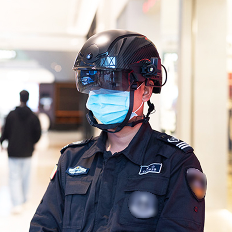 AR Chinese Police Helmet N901 AI Fever-Hunting Smart Networked Temperature Measuring Safety Helmet for Fever Detection