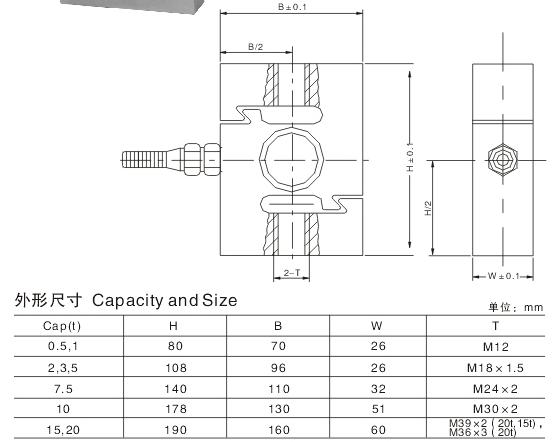 alloy steel tention S type load cell use for crane scale capacity 500kg1t2t3t5t75t10t15t20t