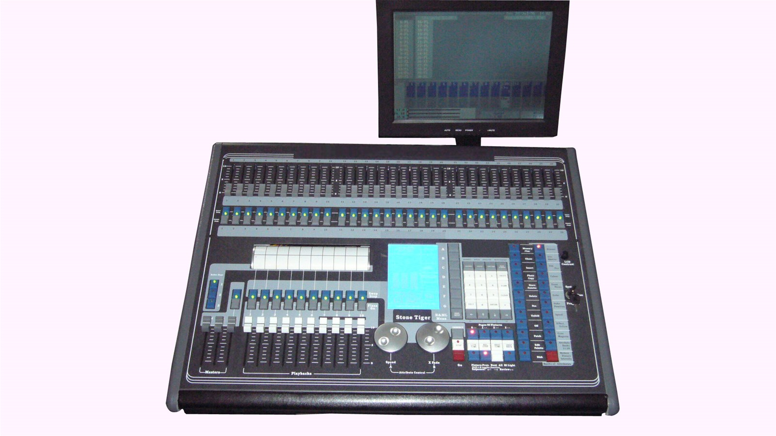 Stone Tiger Computer Controller with LCD Display DMX 512 Console For DJ Stage Equipments