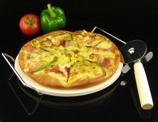 Ceramic stoneware circle pizza stone