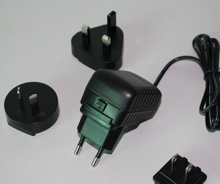 12V 1A Interchangeable AC Adaptor UKAUUSEU Plugs for LCD Monitordisplayer