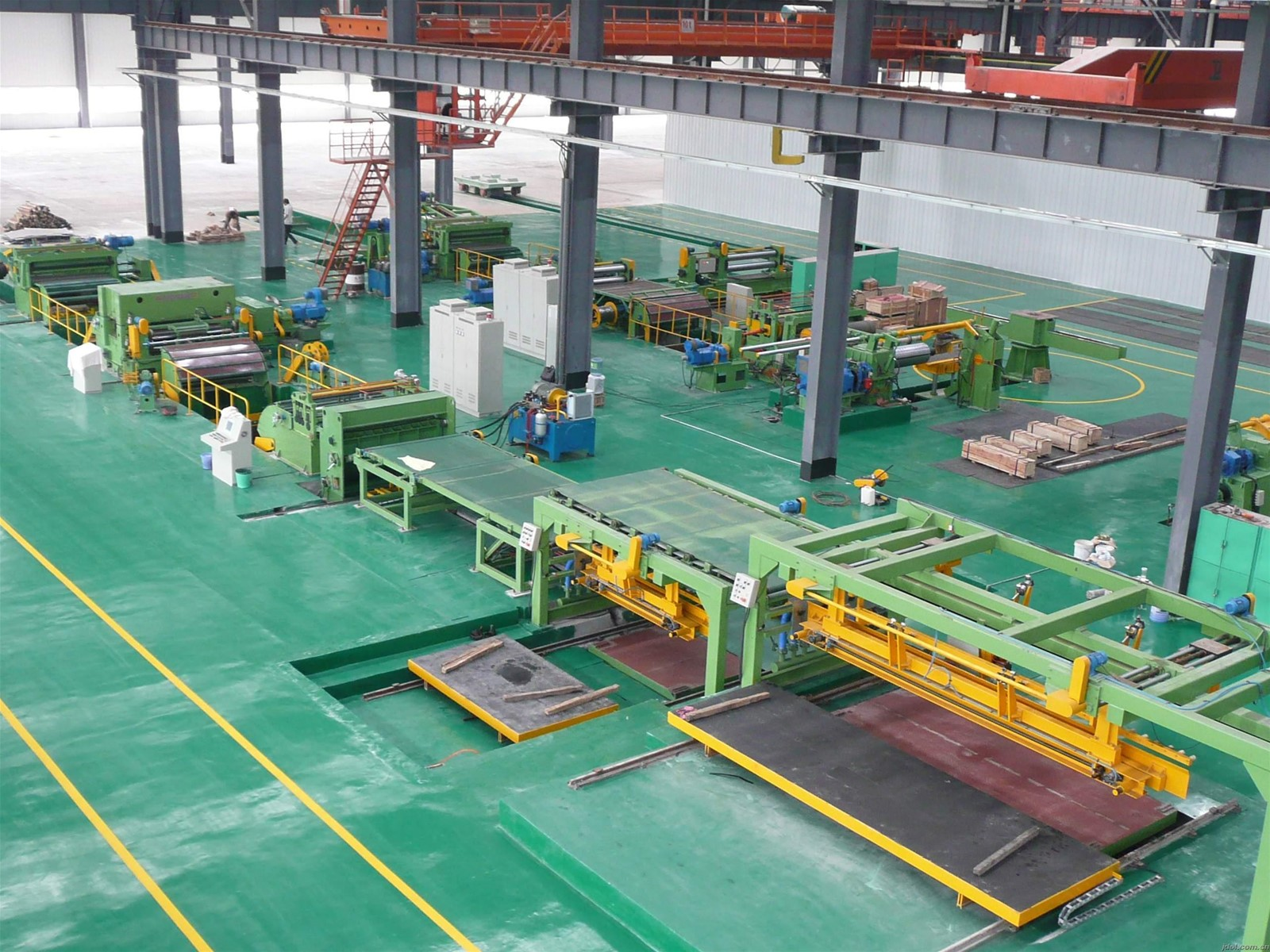 1 cold rolledCR steel coil flying shearcut to length line with china factory price