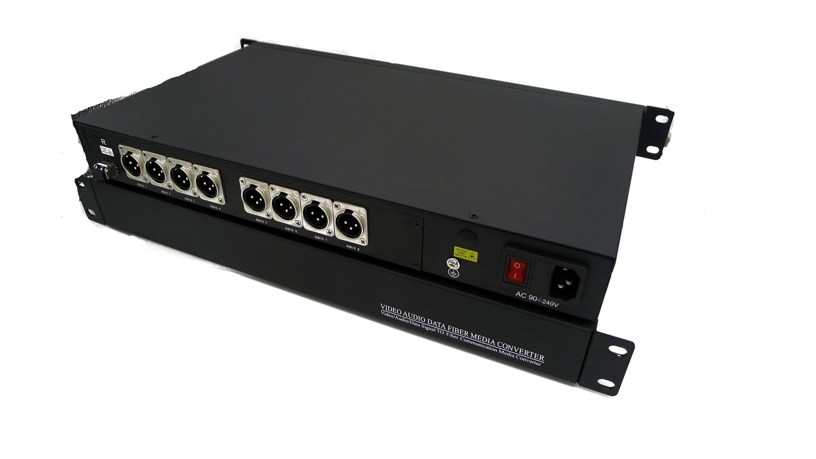 4channel XLR balanced audio over fiber converterBroadcast analog audio