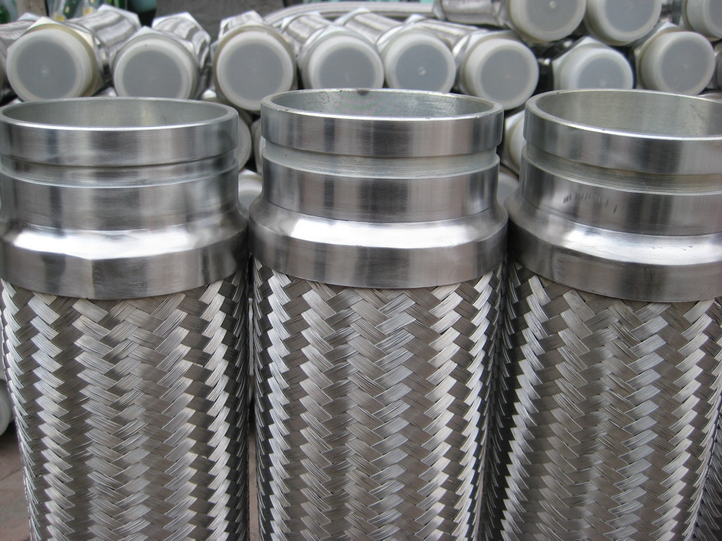 double braided stainless steel flexible hose victaulic pipe assembled on both ends