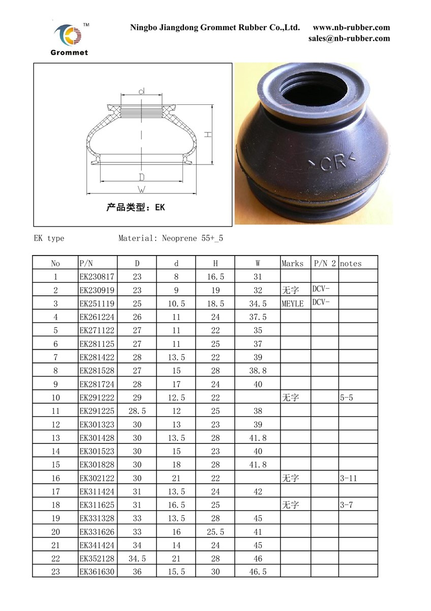 tie rod ball joint boots CV joint bootsball joint dust cover