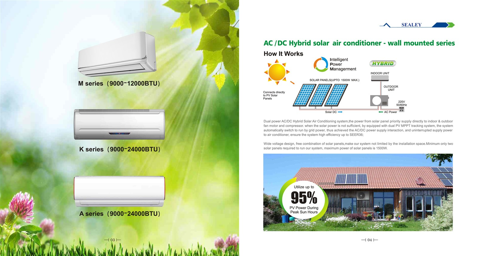 ACDC dual power solar air conditioner