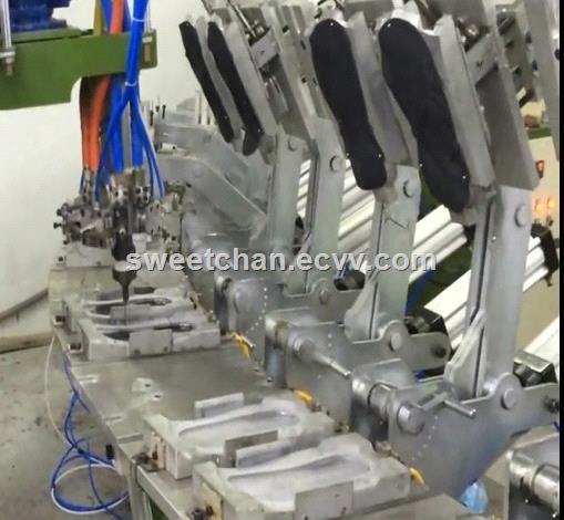 safety shoes PU semiautomatic injection production line