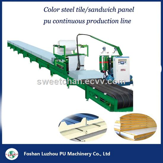 sandwich panel PU foaming continious production line