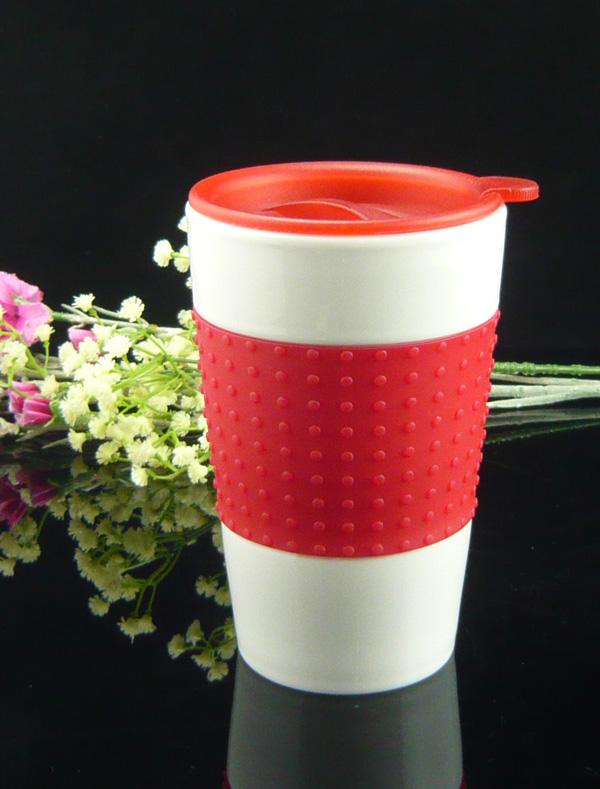 Porcelain travel mug with Lid
