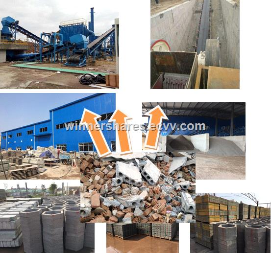 Construction waste disposal system
