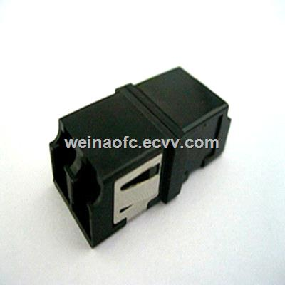 Fiber Adapter LCLC duplex SC footprint black with reduced flange