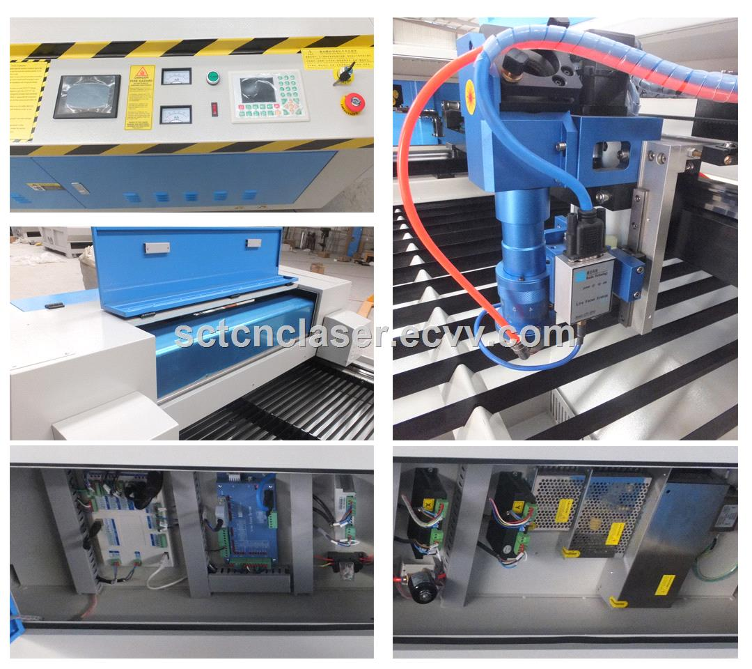 SCTC1325 Metal and Nonmetal Laser Cutting Machine with Reci Laser Tube 150w