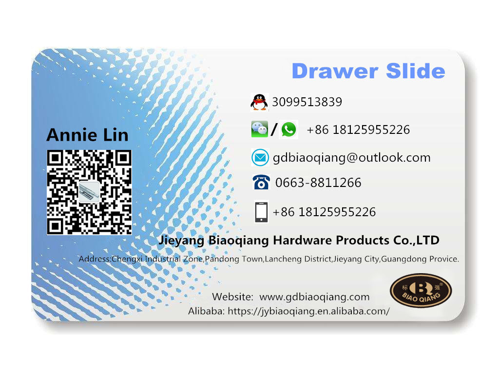 Jieyang Manufacturer Coldrolled Steel Material Furniture 45mm Ball Bearing Drawer Slide