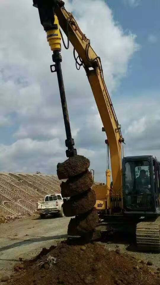 Tree planting heavy duty attachment hydraulic earth auger drill screw drilling machine earth auge attachment