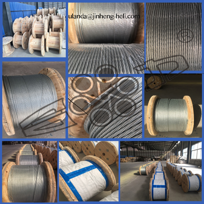 Galvanized steel strand ASTM A 475 BS 183 for Guy wire Stay Wire