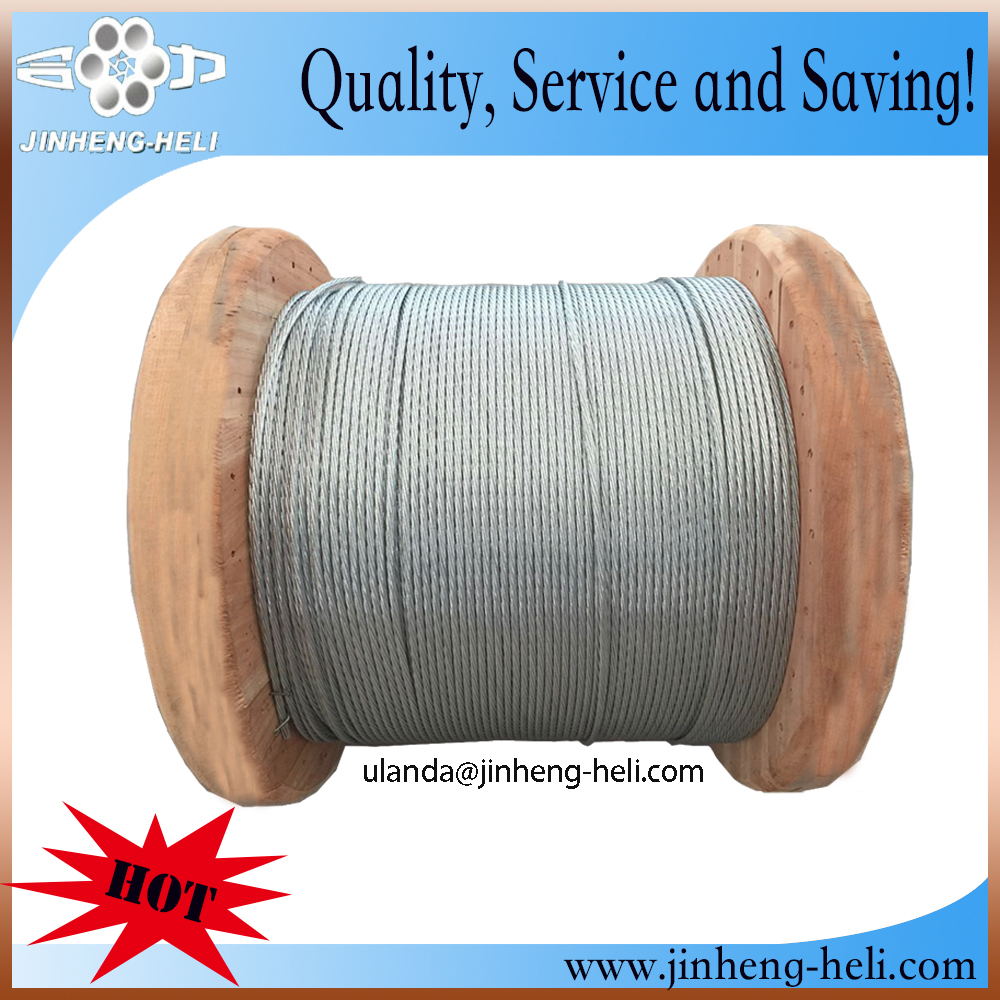 galvanized steel strand ASTM A 475 for Guy wire 14 inch