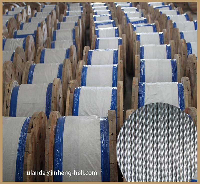 Galvanized steel strand ASTM A 475 BS 183 for Guy wire messenger Wire