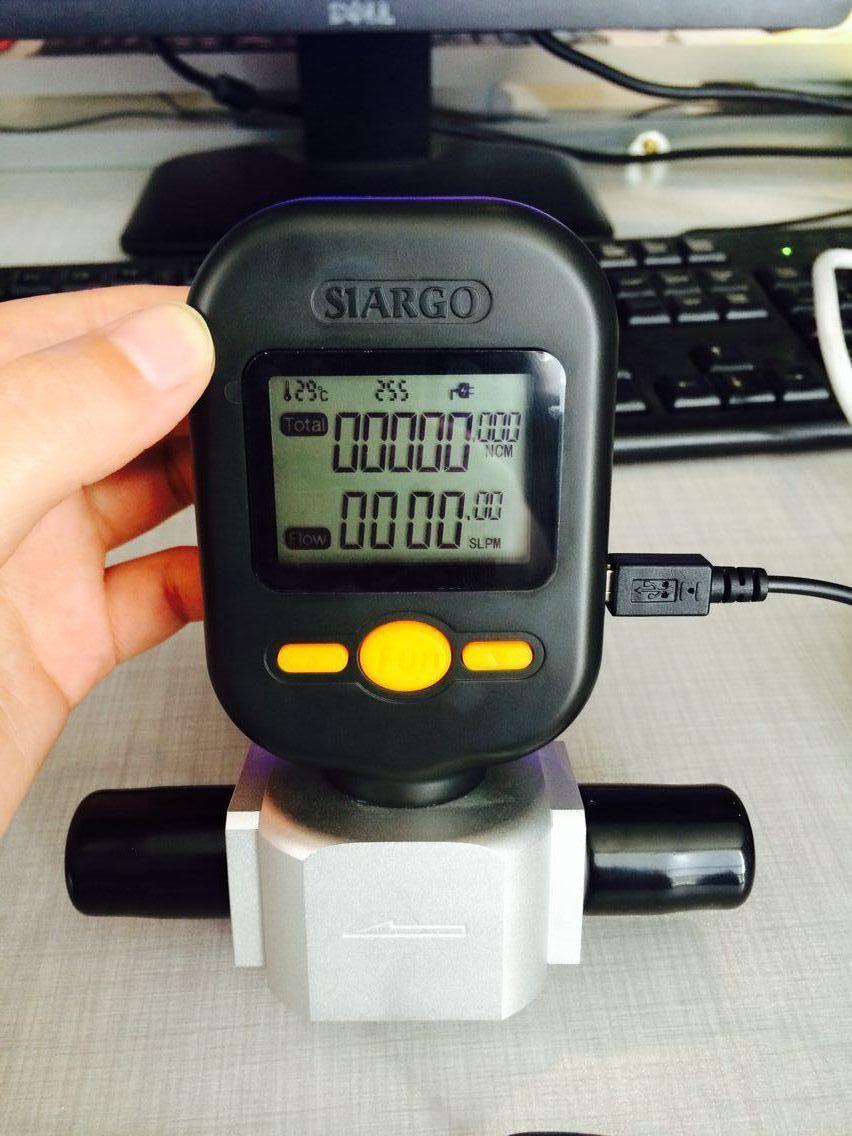 Tiny nitrogen gas air flow meter