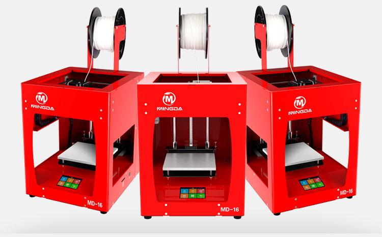 New version MINGDA 3D finger printing high precision 3dprinter