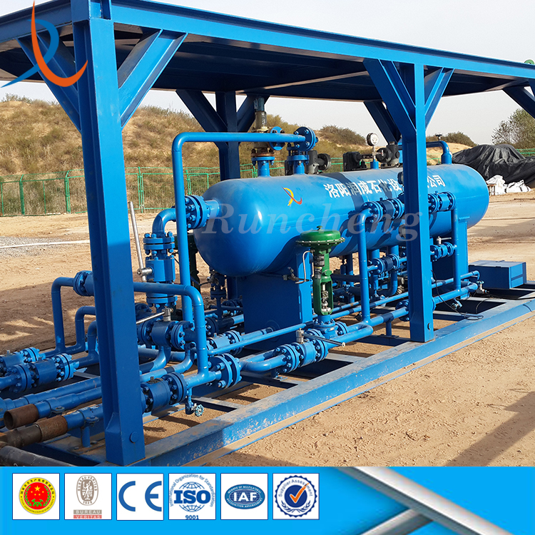 Oilfield petroleum gas water well test 3 phase separator hozizontal three phase gravity separator