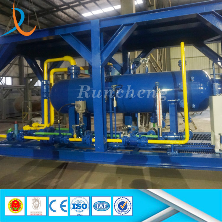 ASME skid mounted oil well testing 3phase separator well test gas liquid separator