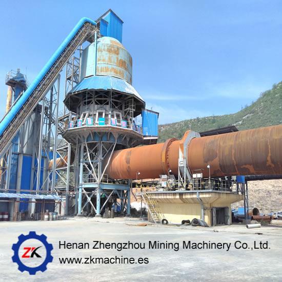 High Capacity Calcination Rotary Kiln for Cement Limestone Ceramic sand Bauxite