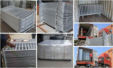 Hot Galvanized Crowd Control Barrier Movable Road Fencefor Australia