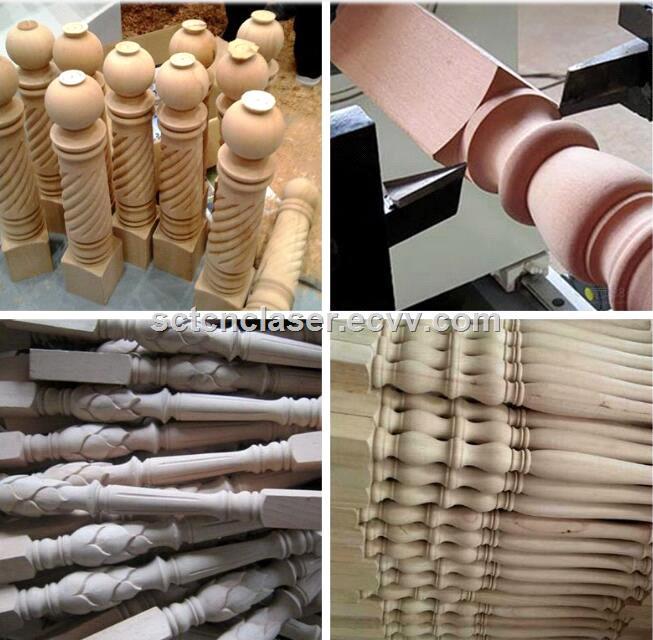 SCT1530 China Hot Sale Double Axis Automatic Wood CNC lathe for baseball bat