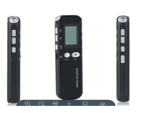 Digital voice recorder with time stamp