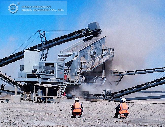 100tph stone crushing plant diesel power