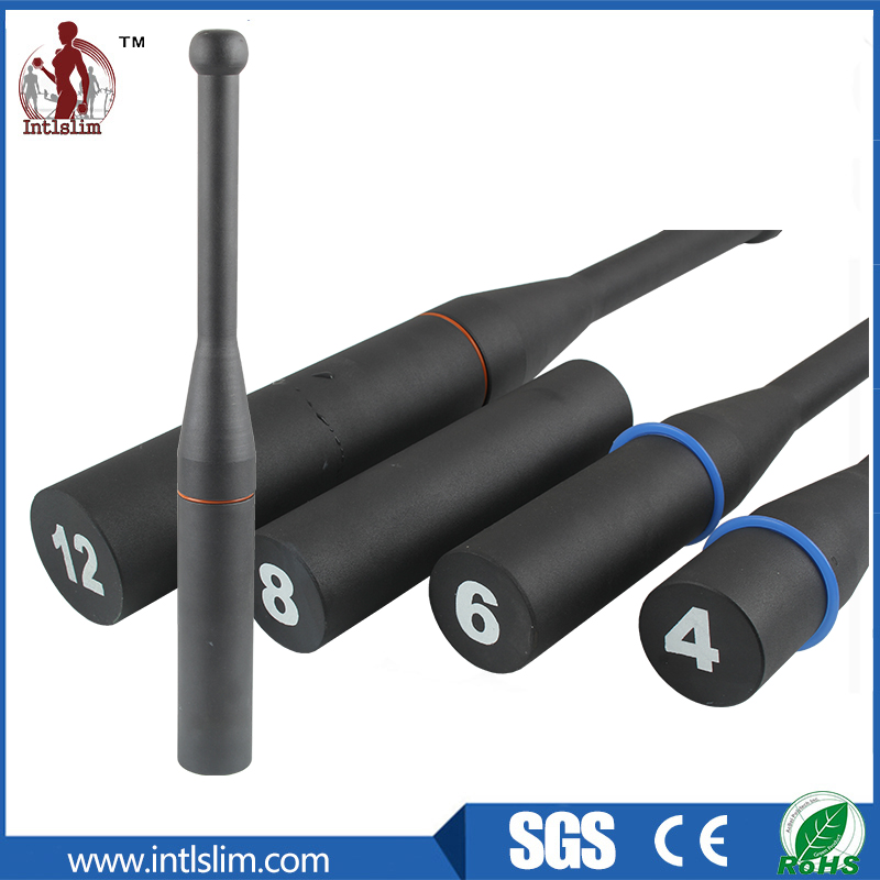 Economy fitness crossfit powder coated steel clubbell for gym