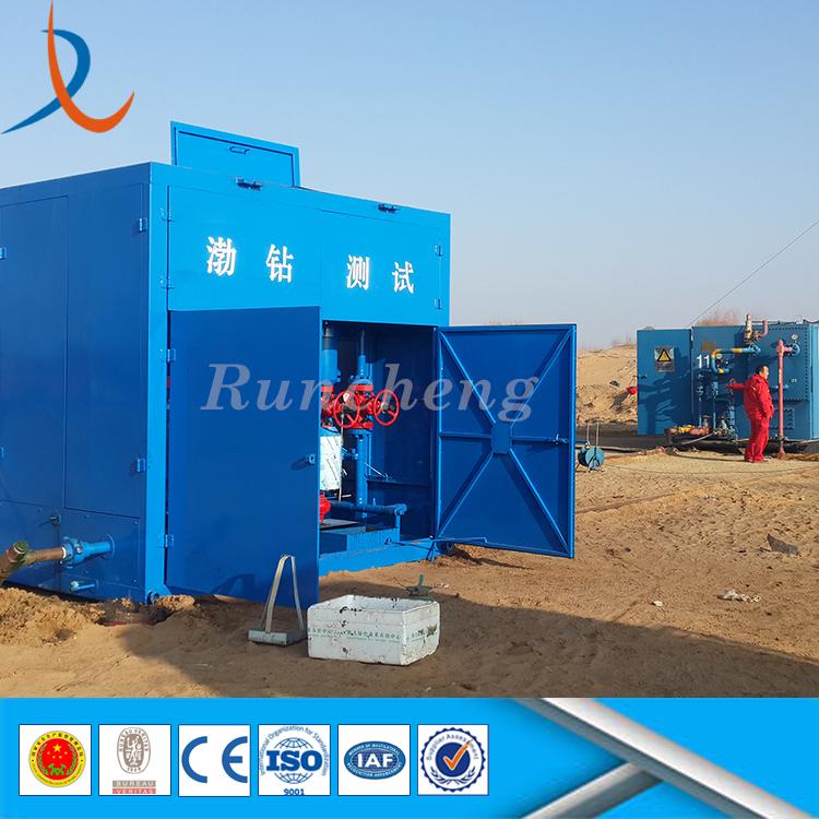 Wellhead drilling crude oil sand filter separator mud cyclone desander well sand separator
