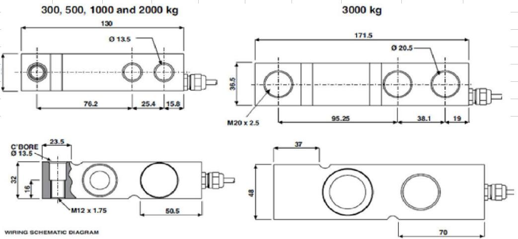 MC8410 LOAD CELL FORCE TRANSDUCER Shear beam load cell for floor scale axle scale