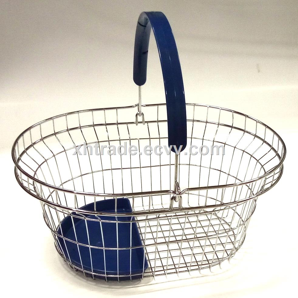 Shopping Basket Wire Hand Basket for the Mall Shopping