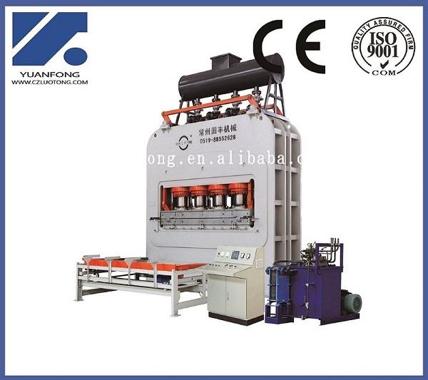 Melamine laminate flooring veneering hot press machine