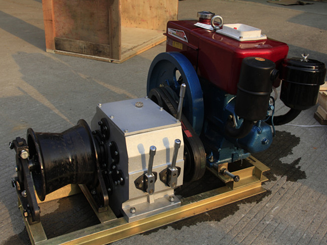 Electric Power Machine 5T Engine Powered Winch
